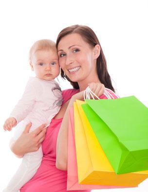 einkaufen für das baby